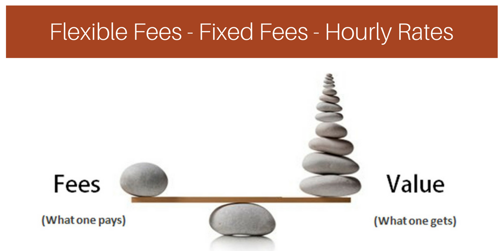 Our fees are designed to deliver you value. Options include flexible,