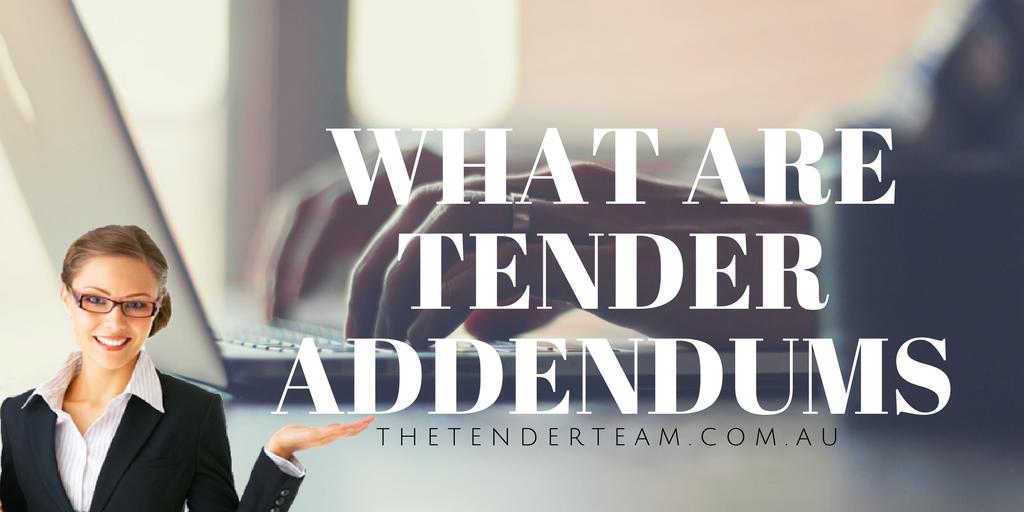 What is an addendum