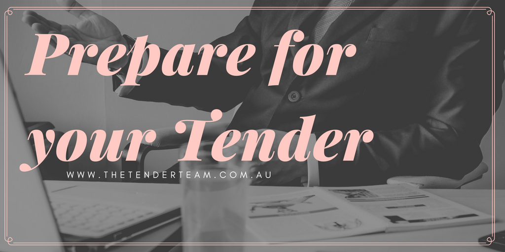 prepare for a tender