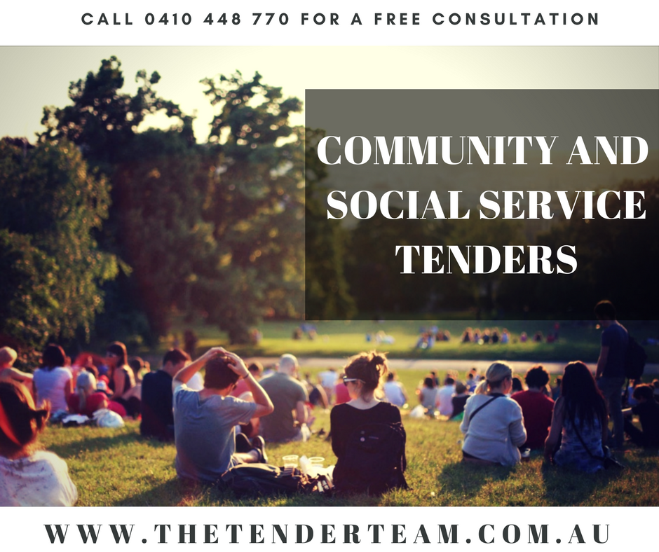 Community and social service tenders